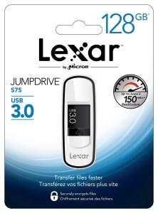 Pendrive Lexar JumpDrive S75 de 128GB