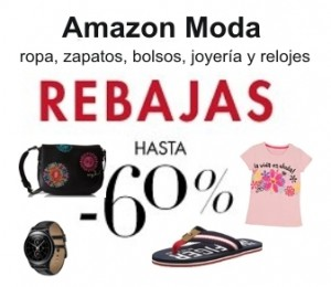 Rebajas en moda en Amazon