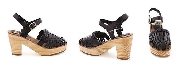 Sandalias para mujer Dafne Mustang negras