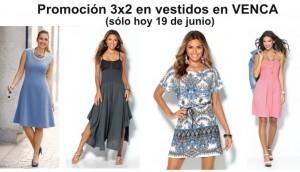 promoción 3X2 en vestidos en Venca