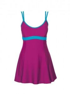 Bañador de corte vestido bicolor