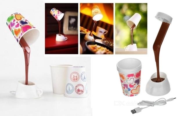 Lámpara LED diseño taza de café