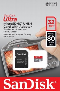 Tarjeta  memoria MicroSDHC de 32GB SanDisk Ultra