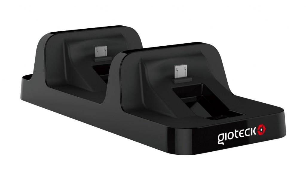 Base de carga para dos mandos PS4 DC1 Gioteck