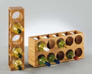 Botellero de bambú Zeller 13565 apilable