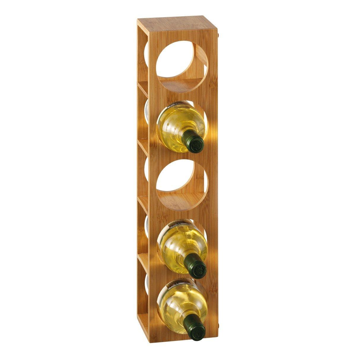 Zeller 13565 Botellero de bambú apilable para 5 botellas de vino