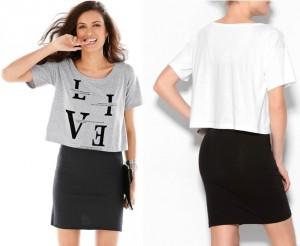 Conjunto 2 piezas vestido y camiseta blanco o gris
