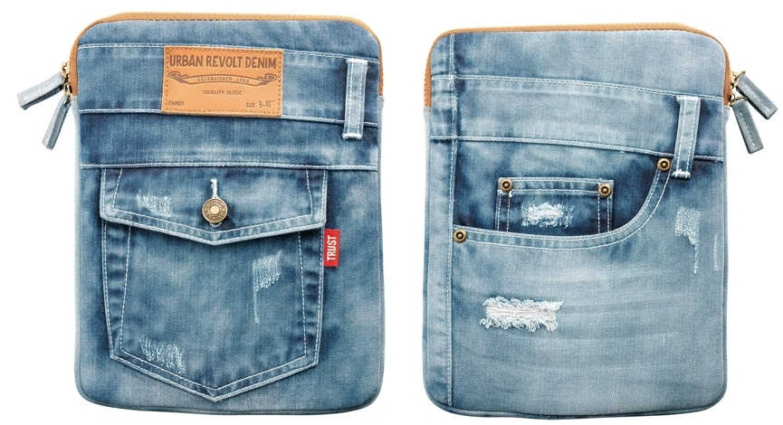 Funda para tablet Trust Jeans por delante y por detrás