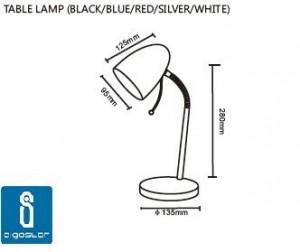 Lámpara de escritorio Aigostar medidas