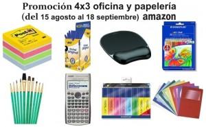 Promoción 4x3 en selección de productos de oficina y papelería