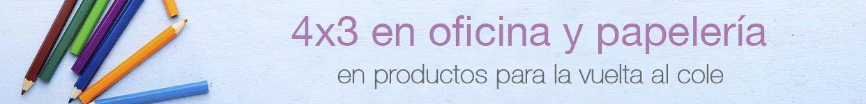 Promoción 4x3 en selección de productos de oficina y papelería en Amazon