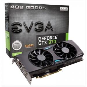 Tarjeta gráfica EVGA GeForce GTX 970 SSC Gaming ACX 2.0+ 4GB GDDR5