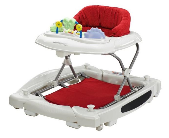 centro de actividades 2 en 1 andador y balancín Bébé Confort rojo