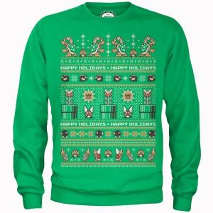 Sudadera Navidad Nintendo Super Mario Los malos Happy Holidays