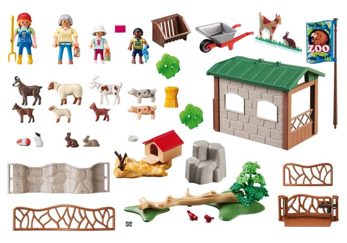 zoo-de-mascotas-para-ninos-con-refugio-para-animales-playmobil-6635-contenido-caja