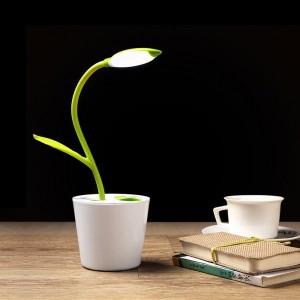 Lámpara de escritorio LED forma de planta iEGrow