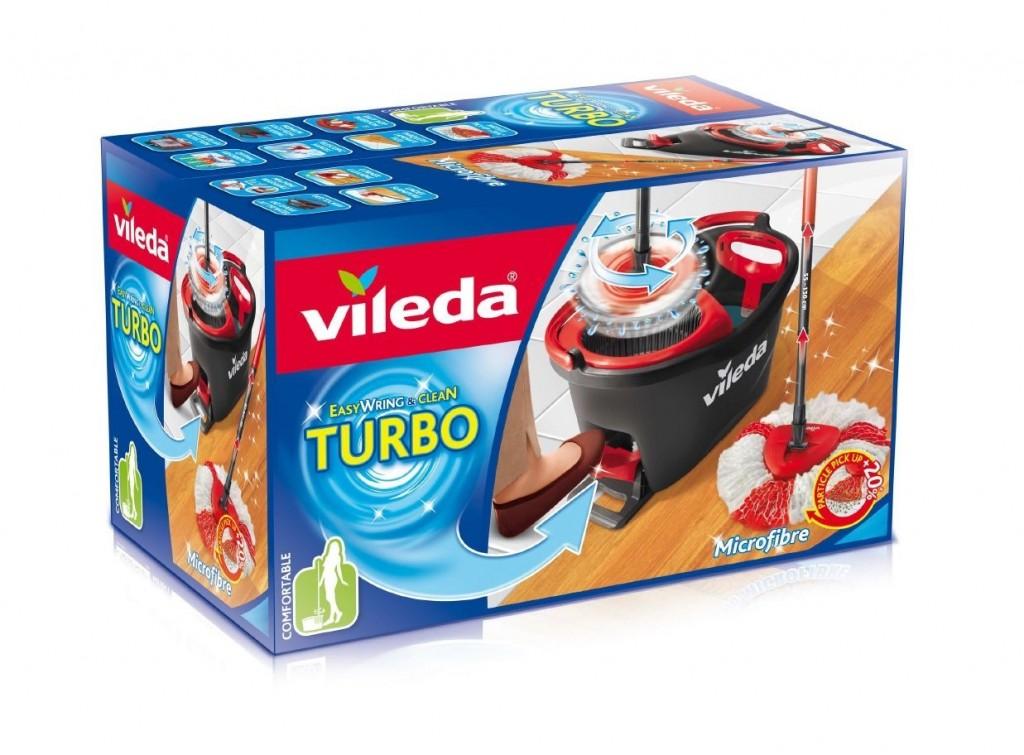 Set de fregona y cubo Vileda Easy Wring & Clean Turbo
