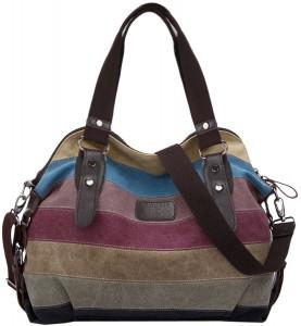 Bolso de lona rayas multicolor Coofit