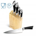 Juego de cuchillos con bloque de madera Denkich