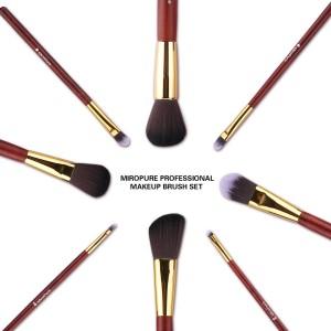Set de ocho brochas de maquillaje
