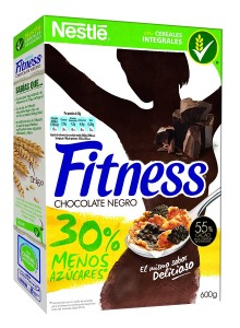 cereales con chocolate negro Nestlé Fitness