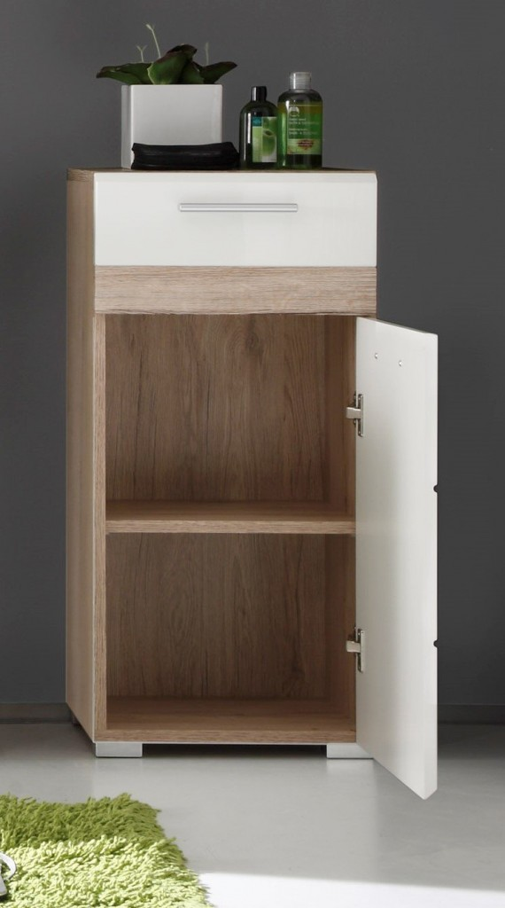 Mueble auxiliar para baño Trendteam 133680296 Set One abierto