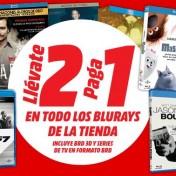 Promoción 2 x 1 en Blu-Ray en Media Markt