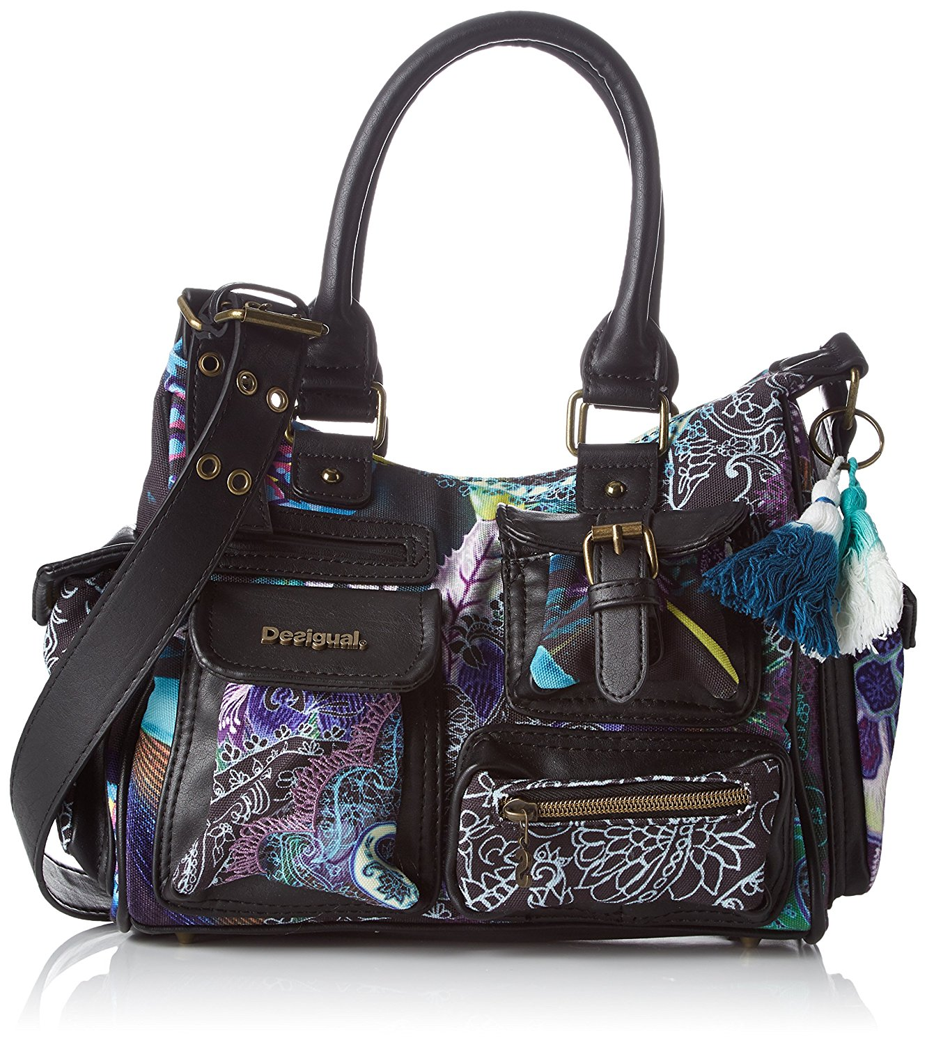 Desigual Estampado Bolso Mini Multicolor Boheme London Yy6bvfg7