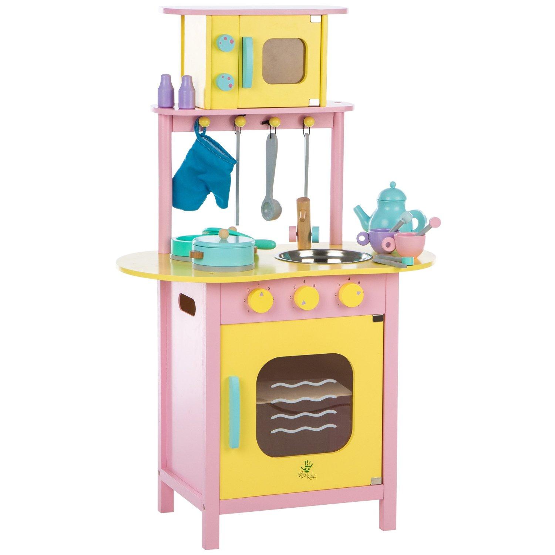 cocina de juguete de madera ultrakidz con accesorios