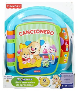 Libro interactivo para aprendizaje Cancionero Fisher-Price