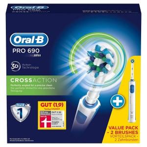 Oral-B PRO 690 (dos cepillos de dientes eléctricos y una base de carga)