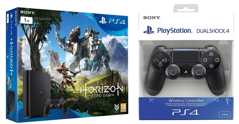 PlayStation 4 de 1TB Horizon Zero Dawn DualShock 4 Negro V2