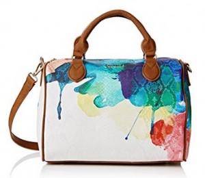 Multicolor Bowling Aquarelle Bolso Desigual Blanco Con Estampado HEDW29IY