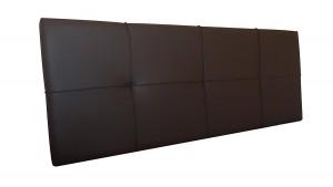 Cabecero de cama Square tapizado en polipiel SUENOSZZZ chocolate