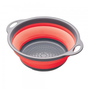Escurridor plegable Kitchen Craft Colourworks color rojo