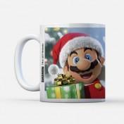 Taza Navidad Nintendo Super Mario Mario Claus