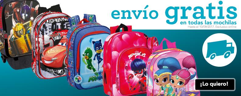 Envío gratis en todas las mochilas y trolleys en Toys R Us