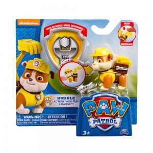 Figura Patrulla Canina Rubble pack de acción