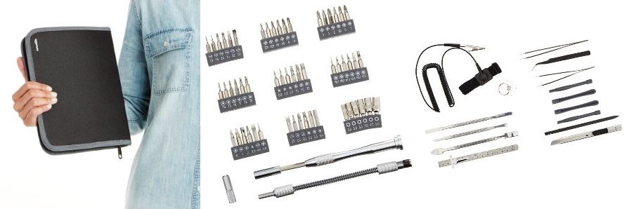 Kit herramientas portátil para electrónica AmazonBasics
