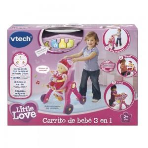 Carrito Bebé 3 en 1 Little Love de Vtech