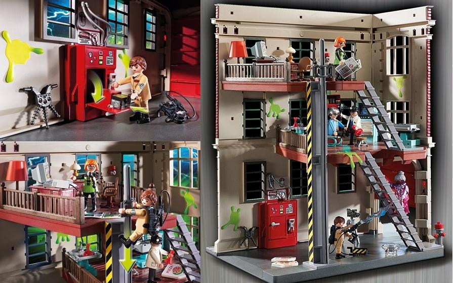 Cuartel parque de bomberos Ghostbusters de Playmobil 9219