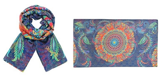 Foulard marca Desigual rectangle Atenas