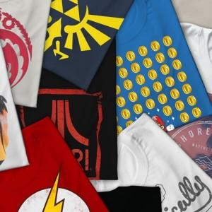 Pack de 5 camisetas misteriosas geek
