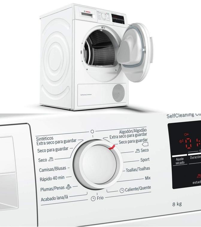 Secadora marca Bosch WTG87228EE