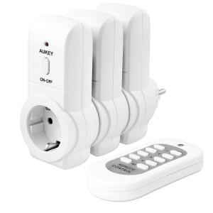Set de 3 enchufes inteligentes con control remoto Aukey PA-R3