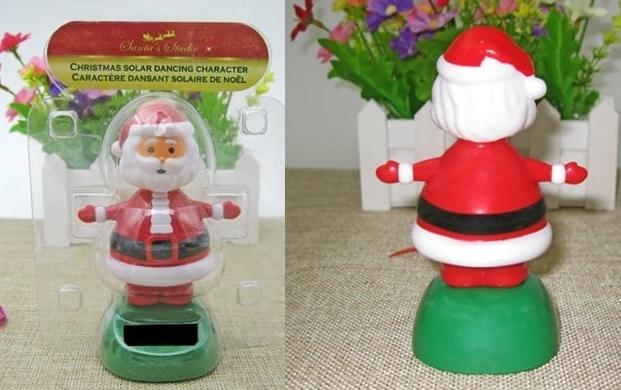 Solar Shaking Santa Claus