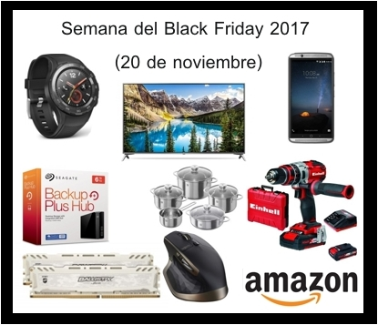 da15495ace Semana del Black Friday 2017 en Amazon (20 noviembre)
