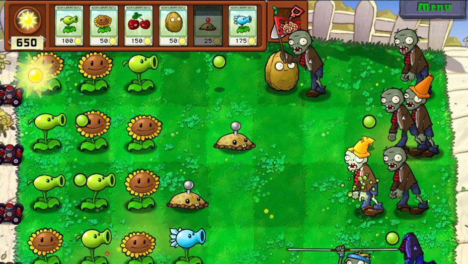 Juego Plantas vs Zombis