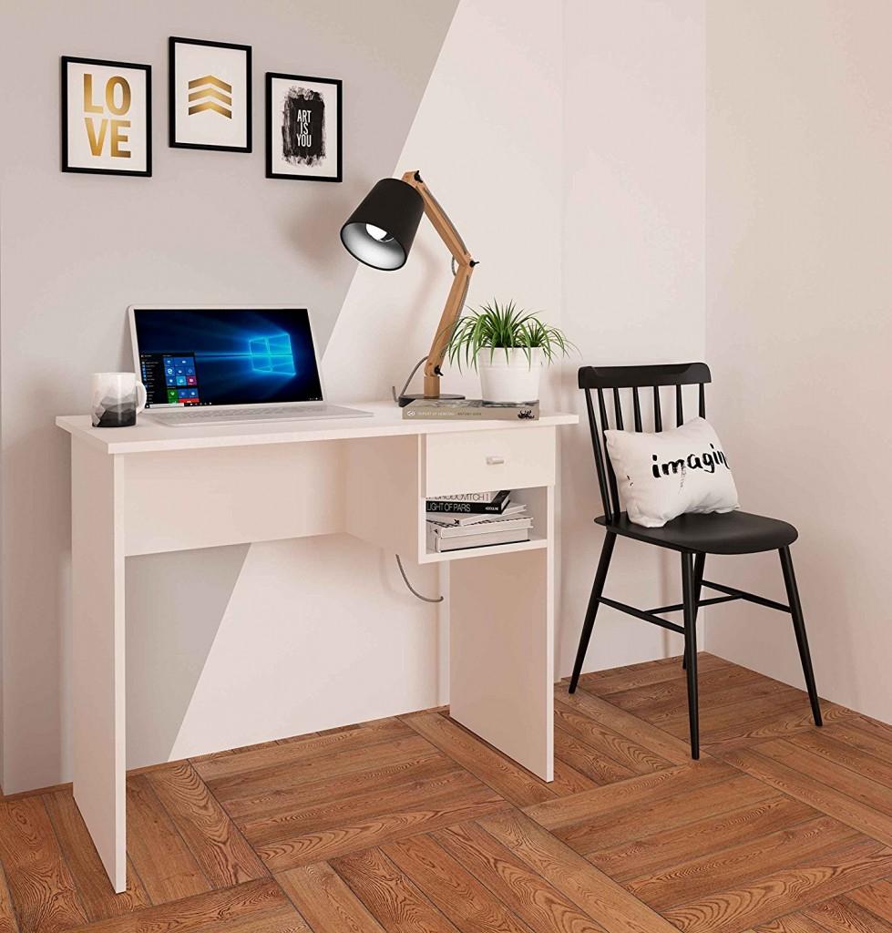 Mesa de escritorio con cajón Samblo Hana blanca