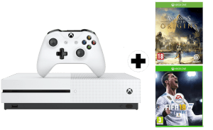 Pack Microsoft XBox One S 500GB + Assassin's Creed Origins + FIFA 18 + Game Pass 1 mes